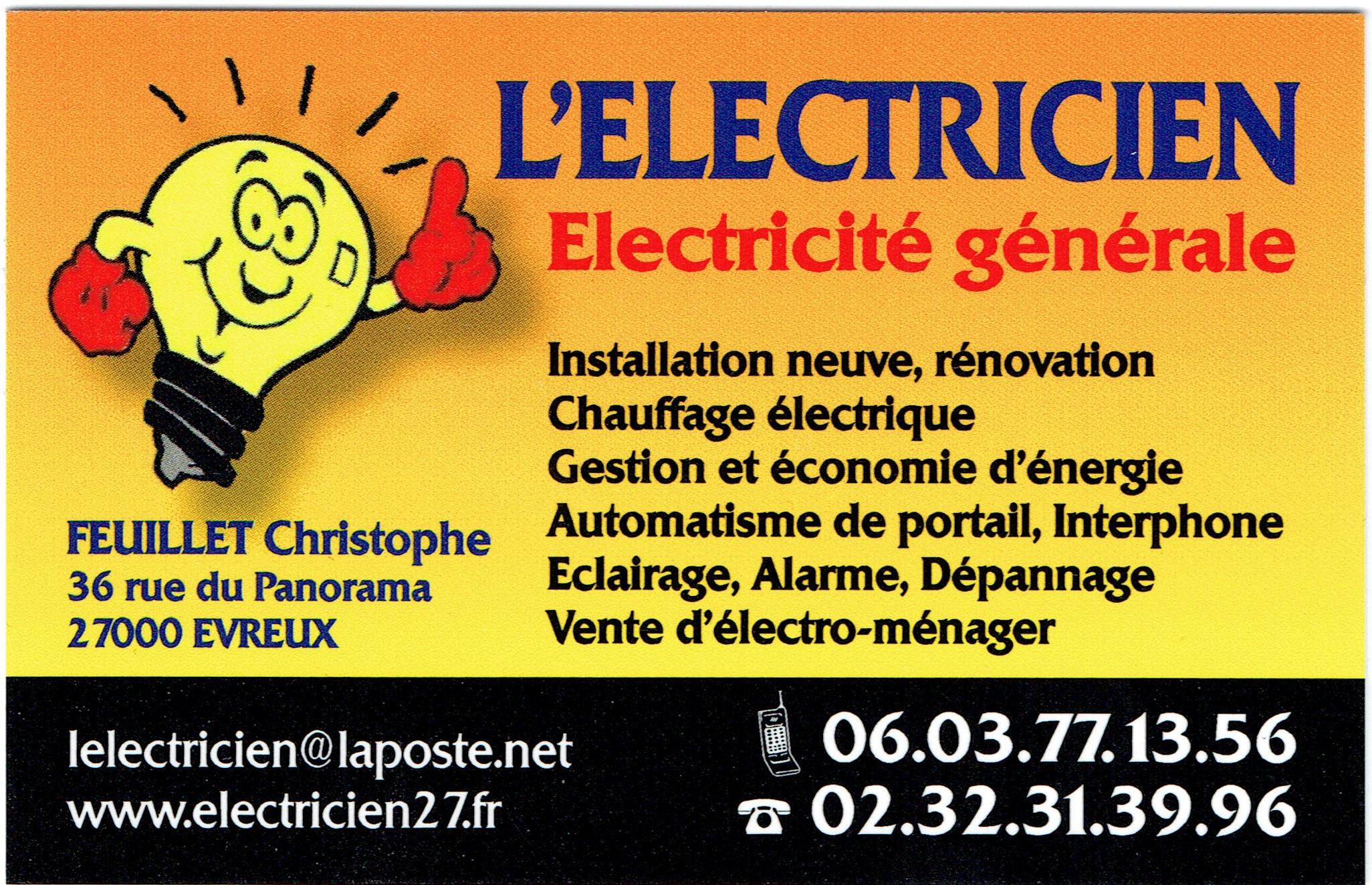 Carte Visite Electricien